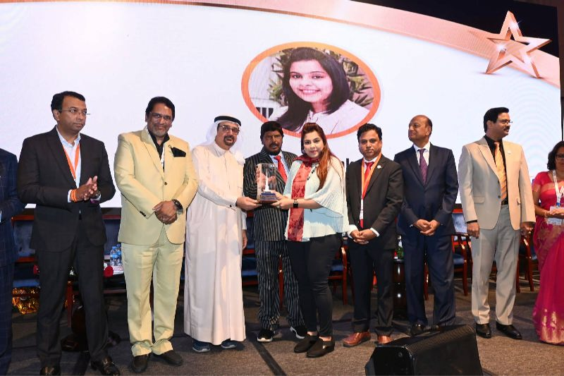 """Education excellence"" Award from GMBF Global, Dubai"